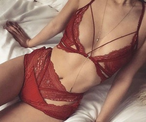 beautiful, girl, and lingerie image