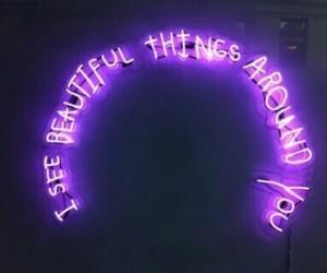 beautiful, pruple, and neon image