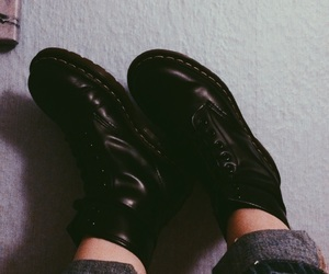 black, dr, and drmartens image