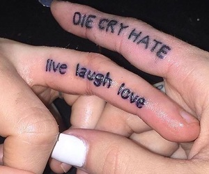 tattoo, grunge, and cry image