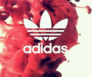 adidas, red, and wallpaper image