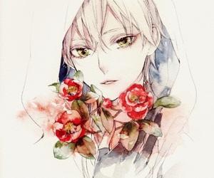 boy, flowers, and manga image