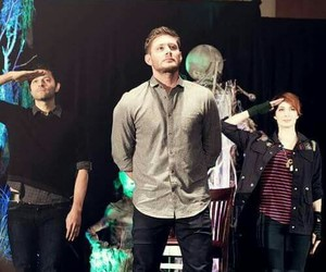 Jensen Ackles, misha collins, and Felicia Day image