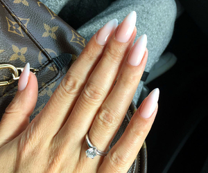 nails, bag, and fashion image