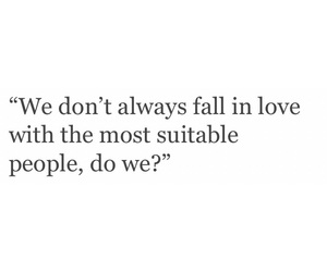 black and white, falling in love, and quotes image