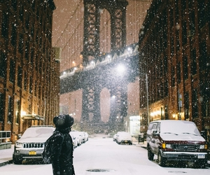 Brooklyn, snow, and winter image