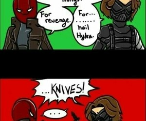 bucky, DC, and Marvel image