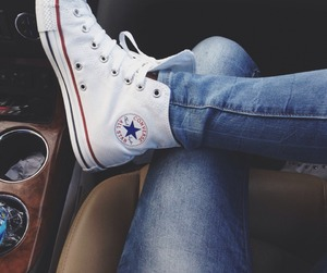 converse, jeans, and shoes image