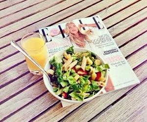 food, Elle, and salad image