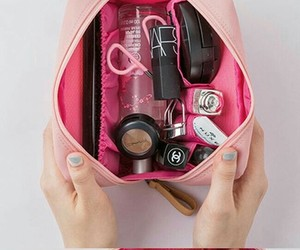 bag, makeup, and organization image