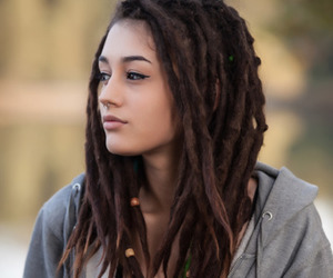 brown, dreads, and haïr image