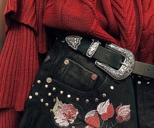 accessories, belt, and fall image