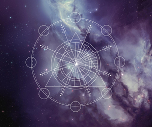 background, galaxy, and sacred geometry image