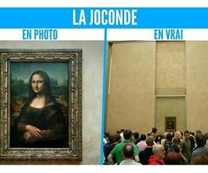 joconde, louvre, and reality image