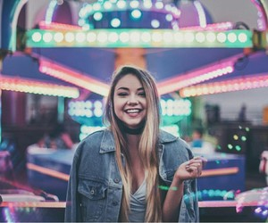 girl, smile+, and lights+ image