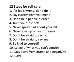 ideas, self care, and love image