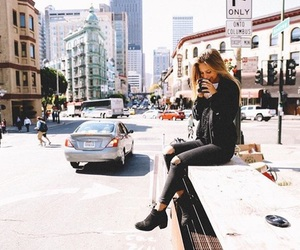 car, coffee, and nyc image