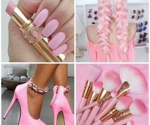 brush, hair, and pink image