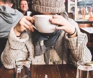 coffee, girl, and thea image
