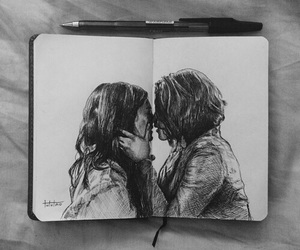 art, drawing, and couple image