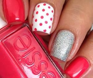 dot, glitter, and nail image