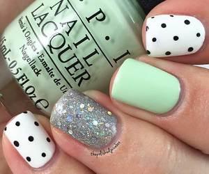 dot, glitter, and manicure image