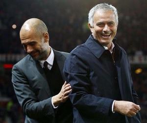 jose mourinho, manchester city, and pep guardiola image