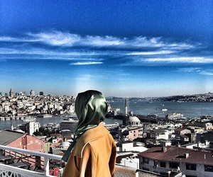 blue, sky, and muslimgirl image
