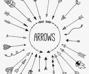 arrow, doodle, and inspiration image