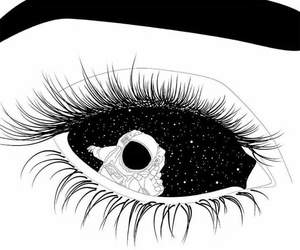 black, eyes, and space image