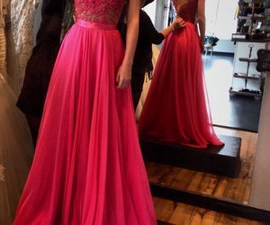 dress, Prom, and pink image