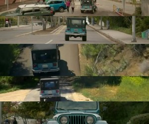 jeep, roscoe, and teen wolf 6x10 image