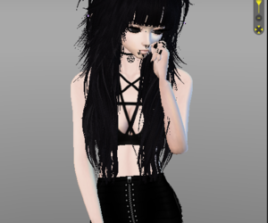black, cute, and emo image