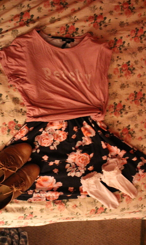 florals, ootd, and vintage image