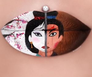 lips, disney, and mulan image