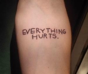 tattoo, grunge, and hurt image