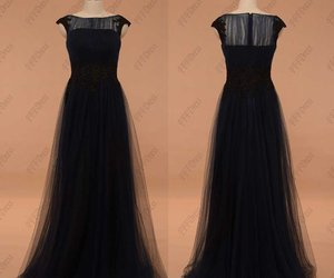 evening dresses, evening gown, and navy blue image