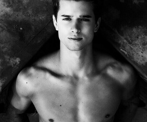 black and white, boy, and pll image