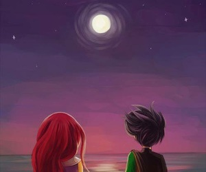robin, teen titans, and starfire image