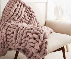 blanket, decor, and knit image
