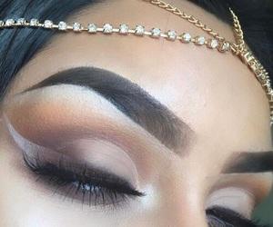 eye liner, eye makeup, and eye shadow image