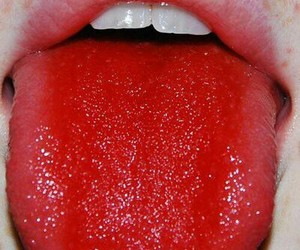 red, tongue, and lips image