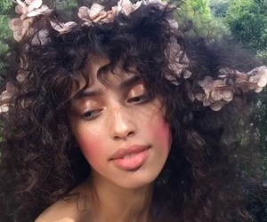flowers, beauty, and hair image