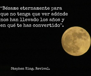 Besos, frase, and Stephen King image