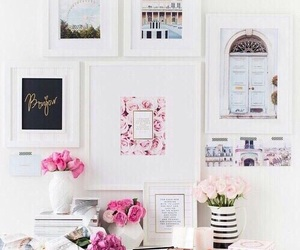flowers, pink, and room image