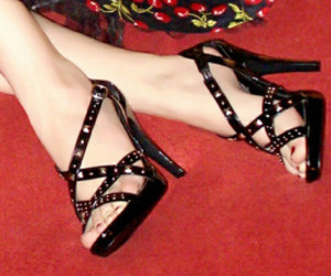 black heels, fashion, and heels image