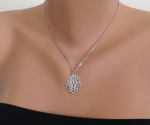 etsy, pendant necklace, and silver jewelry image