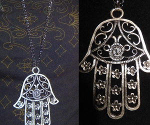 boho, antique silver, and kaballah image