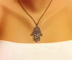etsy, necklaces, and khamsa image