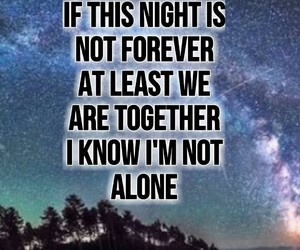 alone, forever, and night image